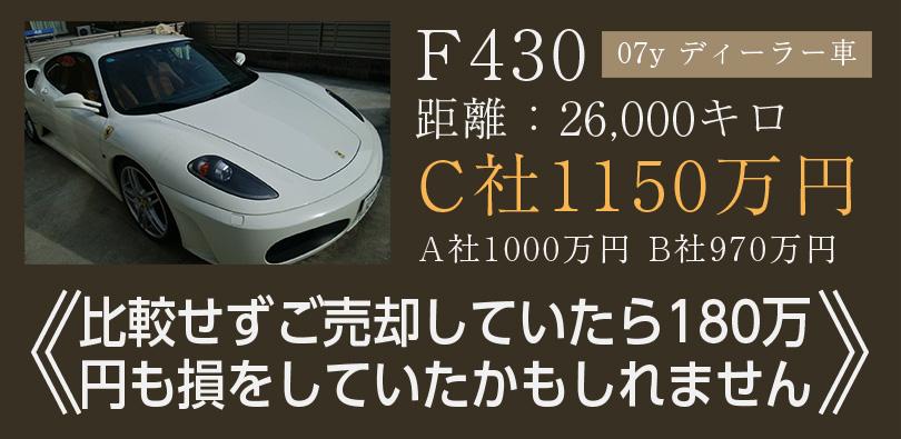 当サイトでのフェラーリの高価買取実績です。